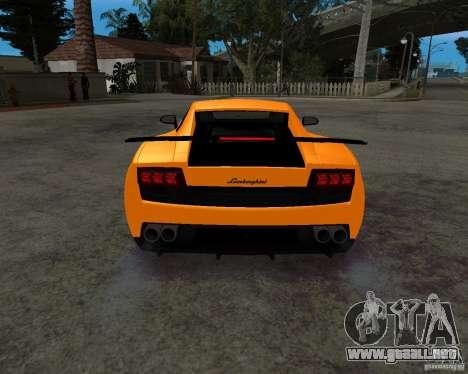 Lamborghini Gallardo LP570 Superleggera para visión interna GTA San Andreas