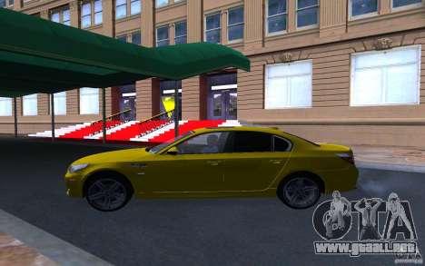 BMW M5 Gold Edition para visión interna GTA San Andreas