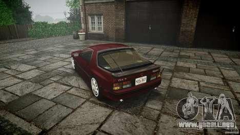 Mazda RX7 FC3S para GTA 4 Vista posterior izquierda