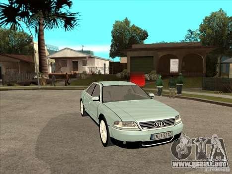 Audi A8 Long 6.0 W12 2002 para visión interna GTA San Andreas
