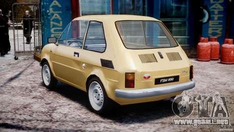 Fiat 126p 1976 para GTA 4 Vista posterior izquierda