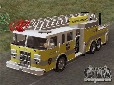 Pierce Arrow XT BCFD Tower Ladder 4 para visión interna GTA San Andreas