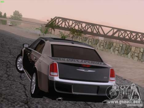 Chrysler 300 Limited 2013 para vista inferior GTA San Andreas