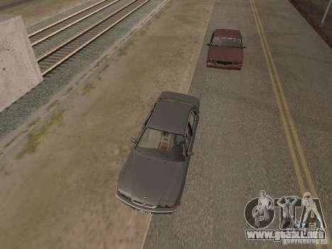 BMW 740 para GTA San Andreas vista hacia atrás