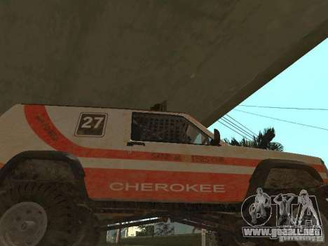 Jeep Cherokee 1984 para visión interna GTA San Andreas