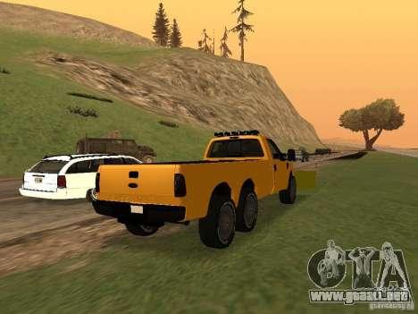 Ford Super Duty F-series para GTA San Andreas vista posterior izquierda