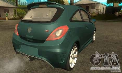 Vauxhall Corsa VXR para la visión correcta GTA San Andreas