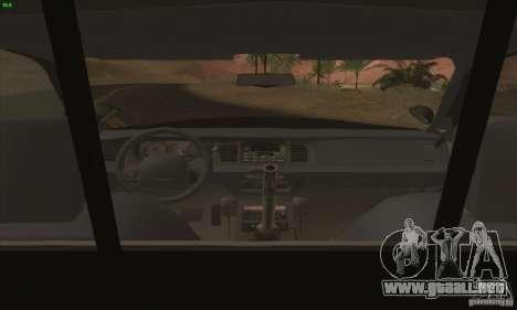 Ford Crown Victoria Florida Police para la visión correcta GTA San Andreas