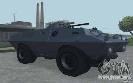 Swatvan con ametralladora para GTA San Andreas tercera pantalla