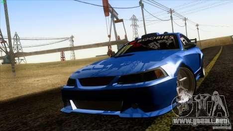Ford Mustang GT 1999 para la visión correcta GTA San Andreas