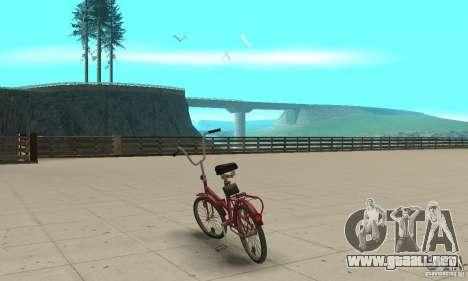 Bicicleta de Kama para GTA San Andreas vista posterior izquierda