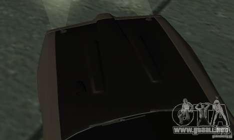 Cazador de caballería de Burnout Paradise para GTA San Andreas vista hacia atrás