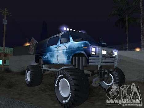 Ford Grave Digger para vista lateral GTA San Andreas