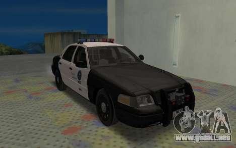 Ford Crown Victoria Police Interceptor LSPD para GTA San Andreas left