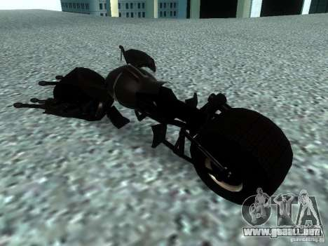Batpod para GTA San Andreas vista posterior izquierda