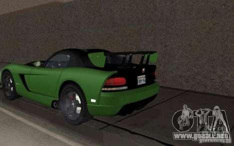 Dodge Viper un poco tuning para la visión correcta GTA San Andreas