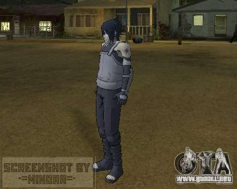 Piel Sasuke Anbu para GTA San Andreas tercera pantalla