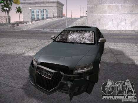 Audi RS6 2009 para vista lateral GTA San Andreas