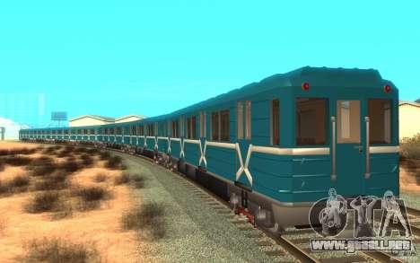 Metro type 81-717 para GTA San Andreas left