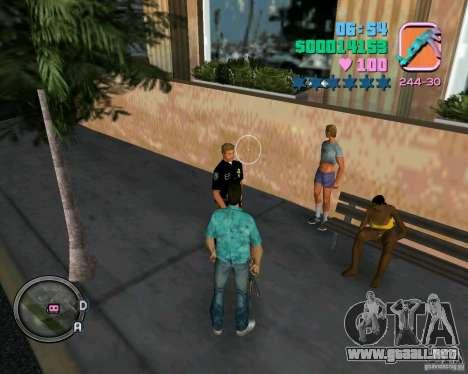 Policías de ropa nueva para GTA Vice City sucesivamente de pantalla