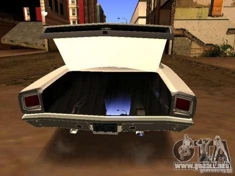 Plymouth GTX 1969 para GTA San Andreas vista posterior izquierda