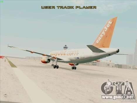 Airbus A319 Easyjet para GTA San Andreas left