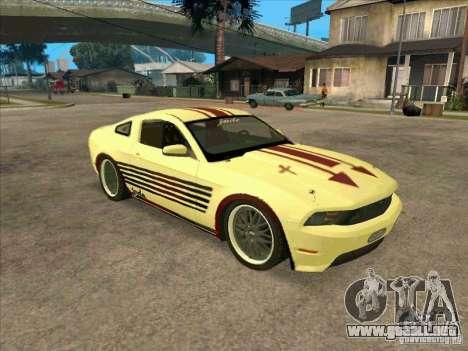 Ford Mustang Jade from NFS WM para GTA San Andreas left
