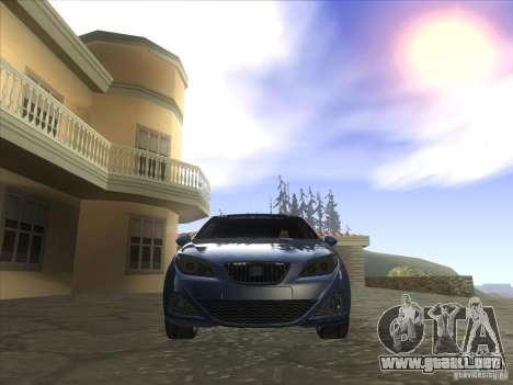 Seat Ibiza 2008 para GTA San Andreas vista hacia atrás