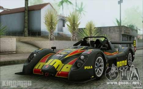 Radical SR3 RS 2009 para GTA San Andreas interior