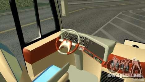 Hino New Travego RK1 para GTA San Andreas vista hacia atrás