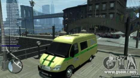 Servicios de transporte gacela 2705 para GTA 4