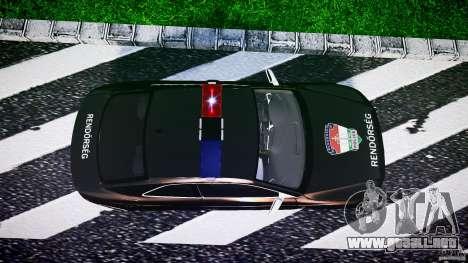 Audi S5 Hungarian Police Car black body para GTA 4 visión correcta