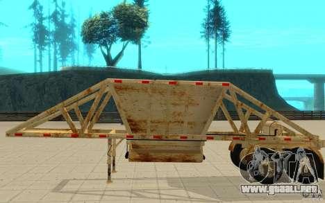Petrotr trailer 2 para GTA San Andreas vista posterior izquierda