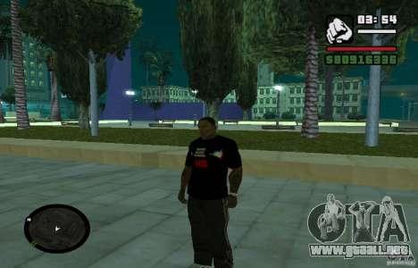 Camiseta baja dura. para GTA San Andreas