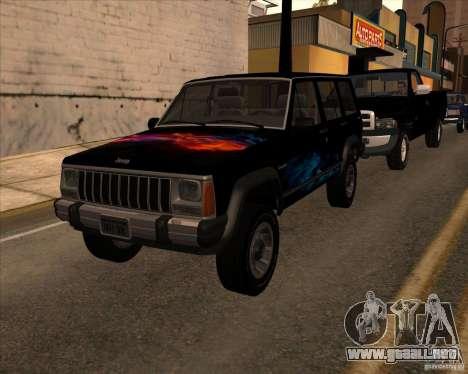 Jeep Cherokee para la visión correcta GTA San Andreas