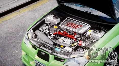 Subaru Impreza STI Wide Body para GTA 4 vista interior