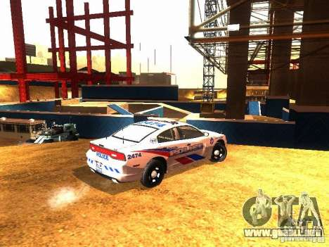 Dodge Charger 2011 Toronto Police para la visión correcta GTA San Andreas