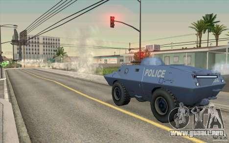 Guardia de BTR para GTA San Andreas sucesivamente de pantalla