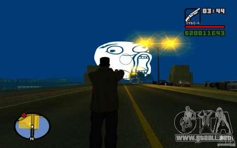 Lol Guy en el cielo para GTA San Andreas segunda pantalla