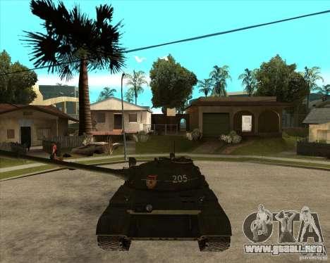 T-55 para GTA San Andreas vista hacia atrás