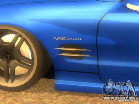 Mercedes-Benz SL65 AMG para GTA San Andreas left