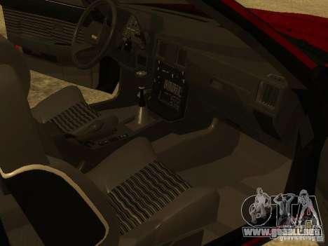Toyota Celica Supra para vista inferior GTA San Andreas