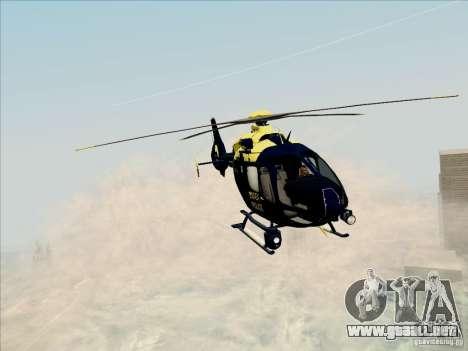 Eurocopter EC-135 Essex para GTA San Andreas vista posterior izquierda