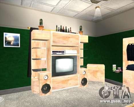 New Interior of CJs House para GTA San Andreas segunda pantalla