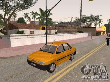 Kia Pride 131 para vista lateral GTA San Andreas
