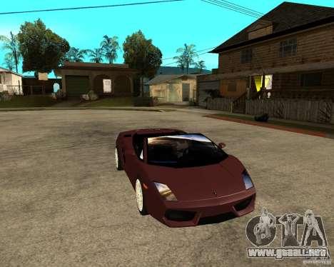 Lamborghini Gallardo LP560-4 Spyder para GTA San Andreas vista hacia atrás