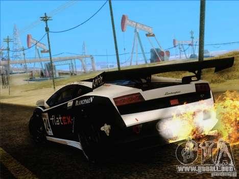 Lamborghini Gallardo LP560-4 GT3 V2.0 para GTA San Andreas vista hacia atrás