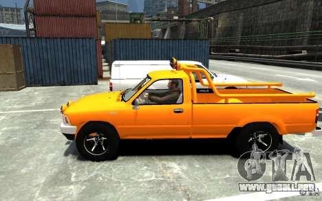 Toyota Hilux 1989-1993 Single cab v1 para GTA 4 left