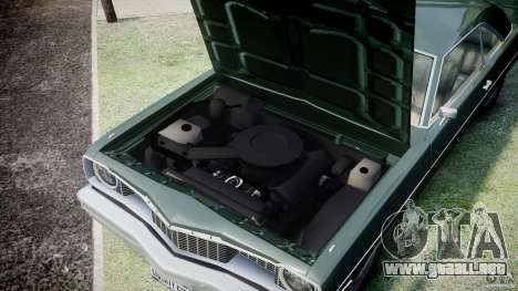 Dodge Dart 1975 [Final] para GTA 4 vista interior