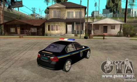 BMW 3 Series DPS para la visión correcta GTA San Andreas